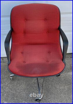 Vintage 1977451 Steelcase Rolling Office Chair Bucket Seat Mid Century Modern