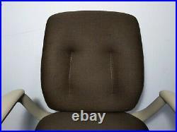 Vintage 1980s Steelcase Rolling Swivel Ergonomic Office Chair Steel Base