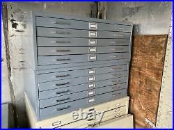 Vintage 5 Drawer Flat file Blueprint Cabinets 41 w