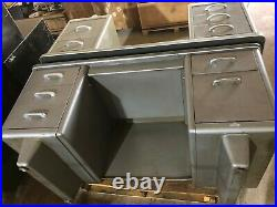Vintage All-Steel Equipment Aurora Series Double-Pedestal Desk Industrial
