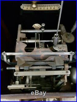 Vintage Antique National Time Recorder Co, Time Clock Circa 1910