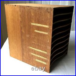 Vintage Antique WOOD Office Paper or File Sorter Organizer Desktop NYC Estate