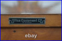 Vintage Art Deco style Office equipment Co of Chicago bookcase