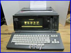 Vintage Brother WP-2450 DS Portable Word Processor Typewriter AMAZING WORKS