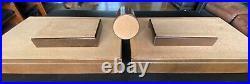 Vintage Brown Florentine Leather Gold Trim Executive Desk Set