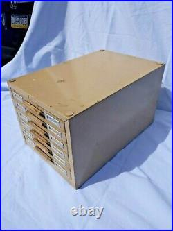 Vintage COLE Steel 6-Drawer Flat File Cabinet for Pictures Postcards Advertising
