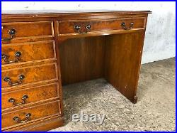 Vintage Captains style Home Office Desk with Faux Drawer Cupboard