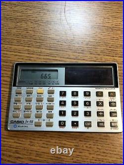 Vintage Casio Fx-98 Solar Cell Pocket Scientific Calculator Card Japan Micro