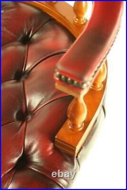 Vintage Chesterfield Leather Captains Desk Chair FREE Shipping 5720