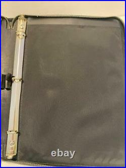 Vintage Coach Black zippered/ringed Portfolio, made in USA EUC
