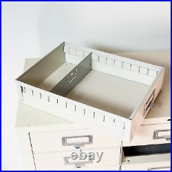 Vintage Cole Steel 33 Drawer Industrial Metal File Filing Cabinet Card Catalog