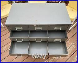 Vintage Cole Steel File Specimen Tool Cabinet Organizer