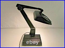 Vintage Dazor Lighted Magnifying Desk Lamp / Light Drafting Table Craft 8MR100