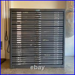 Vintage Foster Flat File 25 drawer used condition