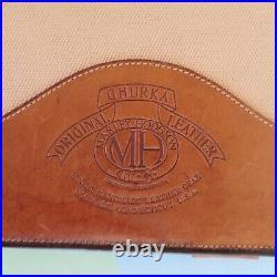 Vintage GHURKA Marley Hodgson Canvas Leather Notepad/ Wire Binder/ Portfolio