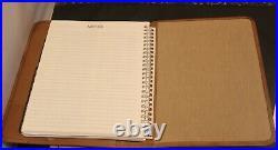 Vintage GHURKA Marley Hodgson Leather Executive Planner Date Calendar Brown