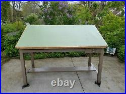 Vintage HAMILTON INDUSTRIES DRAFTING TABLE (72X38) will deliver some places