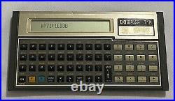 Vintage HP 71B Scientific Calculator (Version 1BBBB)