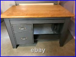 Vintage Hamilton 60 x 38 Tilt/Lift Industrial Drafting Table with Desk