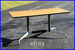 Vintage Herman Miller Eames Mid Century Table Aluminum Conference Desk Dining