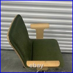Vintage Ikea Innervik Office Swivel Chair Green Bent Wood