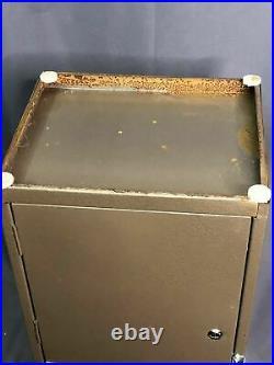 Vintage Industrial 1960s Office Metal File Storage Cabinet Card Filing Organizer