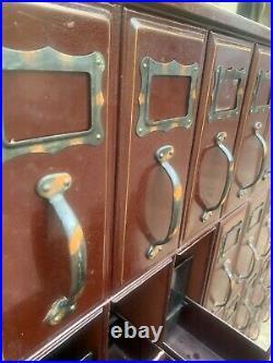 Vintage Industrial File Cabinet 56 Drawer Courthouse Ledger Filing Unit 1940's