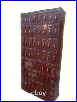 Vintage Industrial Filing Cabinet 56 Drawer Storage 1940's Court Filing