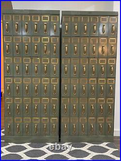 Vintage Industrial Filing Cabinet Set of 2 (Each with 26 Drawers)