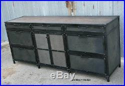 Vintage Industrial/Mid Century Modern File Cabinet. Custom Made. Filing Cabinet