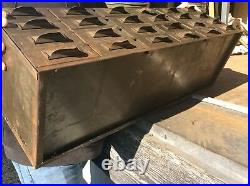 Vintage LYON Industrial Heavy Metal 24 Drawer File / Storage Cabinet Very Good