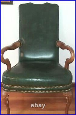 Vintage Leather Chair Gooseneck Library Office Chair Original