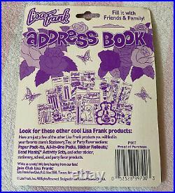 Vintage Lisa Frank Markie Unicorns Rainbow Clouds Stars Address Book Sealed