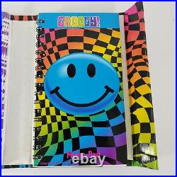 Vintage Lisa Frank Smiley Face Trifold Flip Out Agenda Planner Organizer Rare