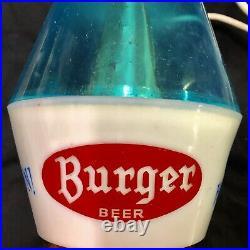 Vintage MCM 1950's Burger Beer Swag Lamp Rare Ceiling Light Trio Cincinnati Reds