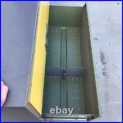 Vintage MCM Retro Color File Cabinet Office Steelcase Yellow Green Orange Gray