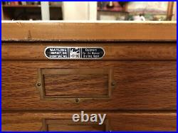 Vintage Mayline 15 Drawer Wood Flat File Cabinet Drafting Map Document Blueprint