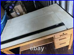 Vintage Mayline Drafting Table with 4 Drawer Under Desk