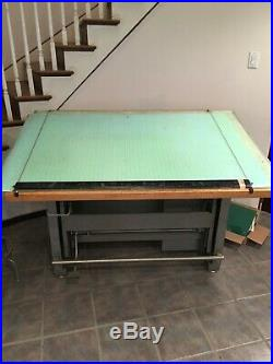 Vintage Mayline May-O-Matic Drafting Table Desk Combo withAccessories