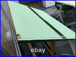 Vintage Mayline wood Drafting Table adjustable desk artist architect engineer