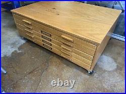 Vintage MaylineMid Century Modern Flat File Drawer Cabinet Art, Blueprints, Maps