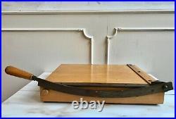 Vintage Medium Wooden Guillotine Board Cutter Art Dept Retro Bookbinding Art