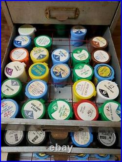 Vintage Metal 4 Drawer Standard Filmstrip Library Plan Filing Cabinet File 180C