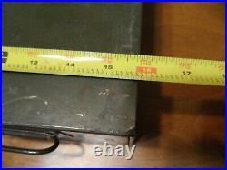 Vintage Metal Storage Box File Co Industrial Metal Wooster OH Prepper Lot of 5