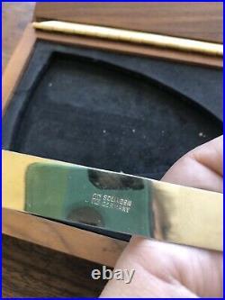 Vintage Mid-Century Modern Desk Set Gold Plate Soligen Scissors Home Office