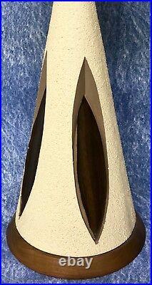 Vintage Mid Century Modern Retro Saucer Atomic Table Lamp 1960 Quartite Creative