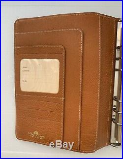 Vintage Mulberry A5 size Agenda, Pigskin Leather, With Inserts, Made In England