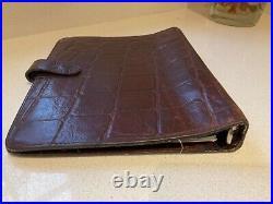 Vintage Mulberry dark oak brown Congo leather planner Filofax organiser A5 rare