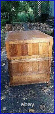 Vintage Oak Flat File 43w x 34.5d x 40.5h