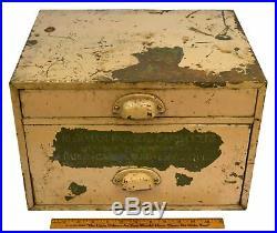 Vintage PAPER-CARDBOARD-ENVELOPES METAL CABINET 2-Drawer BEEKMAN CO. Of N. Y. C